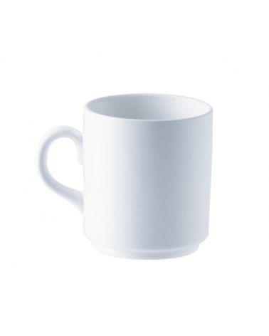 Mug empilable 25 cl Blanc, 6 pièces