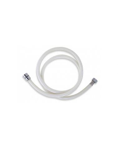 Flexible de douche 150 cm blanc chromé PVC