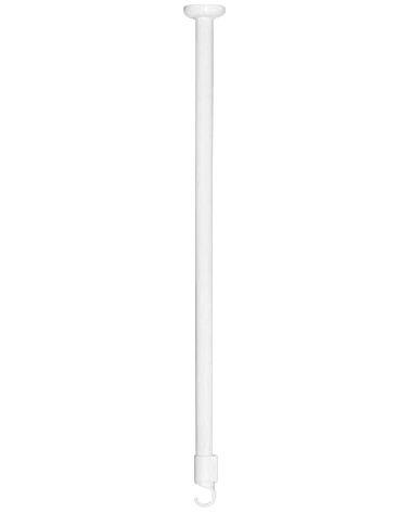 Support plafond pour tringle d'angle blanc