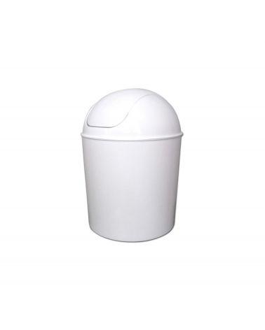 Poubelle 7L avec couvercle basculant blanc