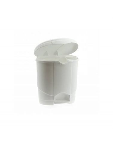 Poubelle Lolly 4L avec pédale blanc