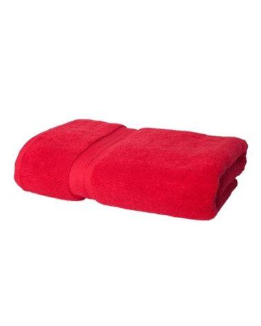 Drap de bain coton 70 x 140 cm Rouge, 3 pièces