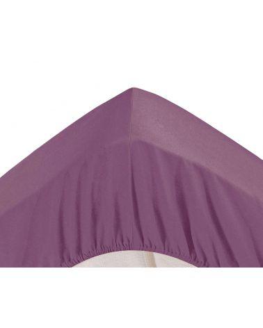 Drap housse grands bonnets 30 cm Aubergine
