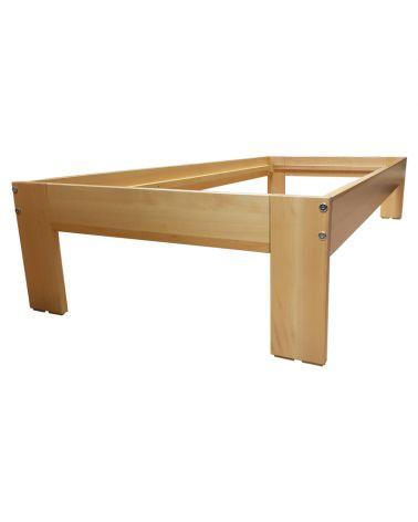 Structure de lit bois hêtre clair