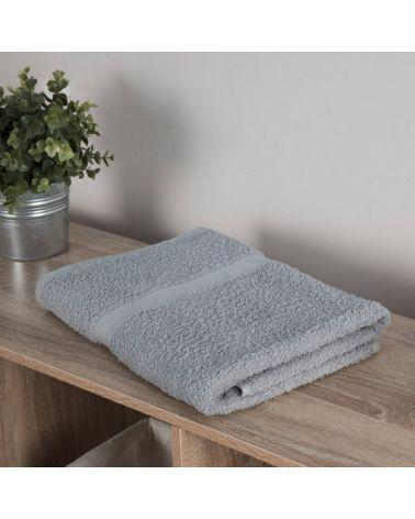 Drap de bain coton 70 x 140 cm Gris, 3 pièces