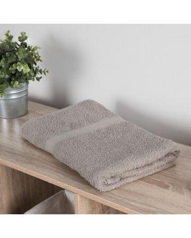 Drap de bain coton 70 x 140 cm Taupe, 3 pièces