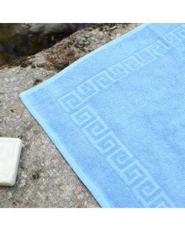 Tapis de bain 50 x 70 cm Bleu, 6 pièces