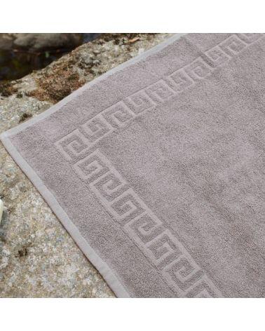 Tapis de bain 50 x 70 cm Taupe, 6 pièces