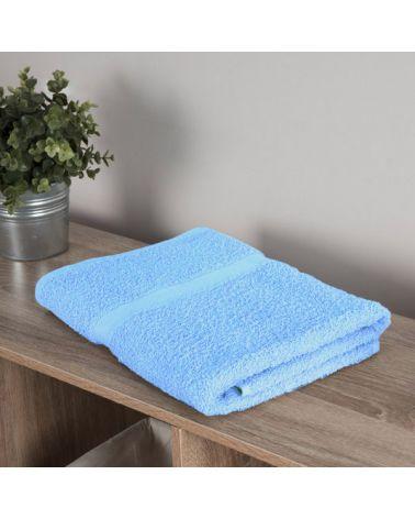 Drap de bain coton 70 x 140 cm Bleu, 3 pièces