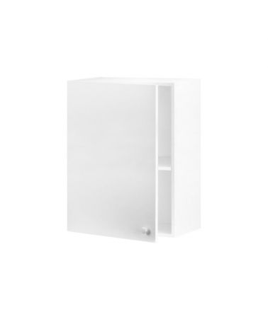 Meuble haut 60 cm 1 porte Blanc